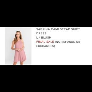 Pink Cami Strap Shift Dress